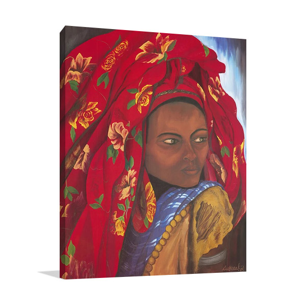 The Lady from Hareer Wall Print