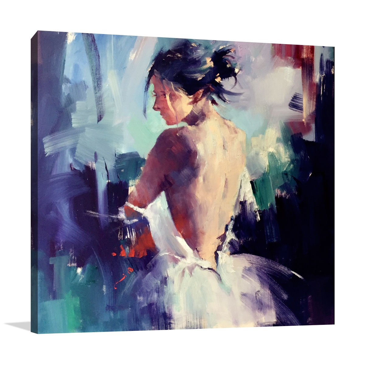 Li Zhou Artwork | The Moment of Silence Painting | Prints on Canvas