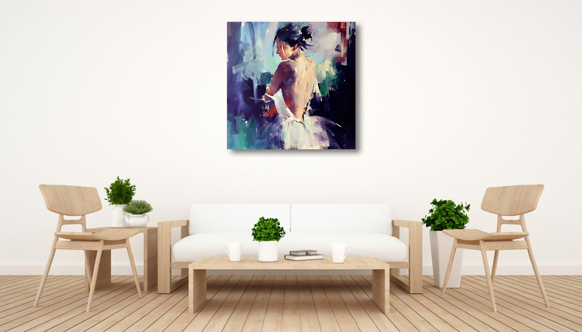 Li Zhou Paintings | The Moment of Silence Print | Wall Art Canvas