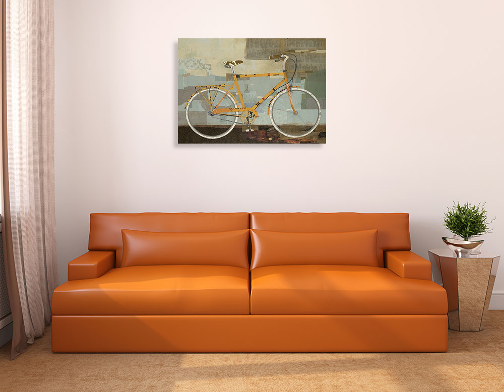 Bicycle Print Art Canvas