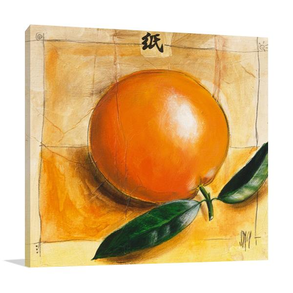 The Orange Fruit Canvas Wall Art