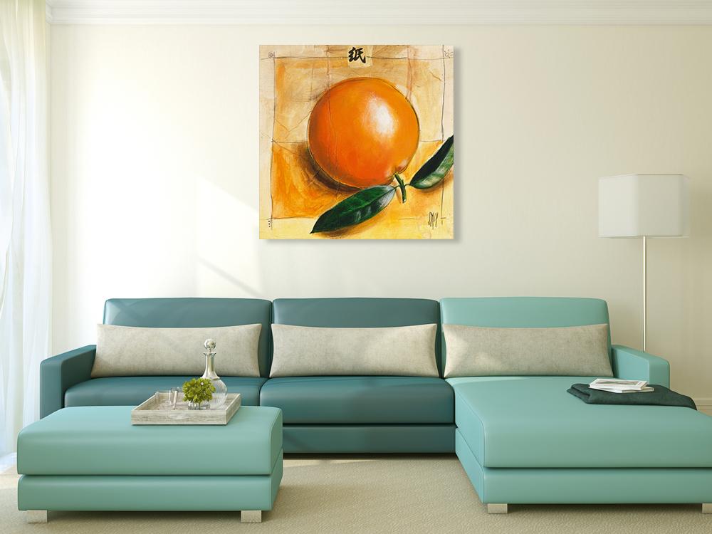 Orange Square Wall Art Print
