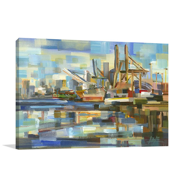 The Port of Seattle Print on Canvas