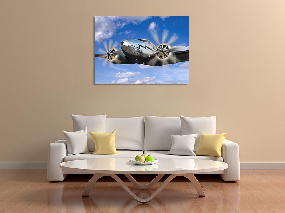 Metal Airplane Canvas Print
