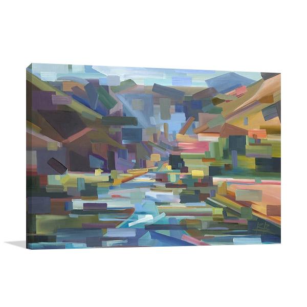 Yakima Canyon Wall Print on Canvas