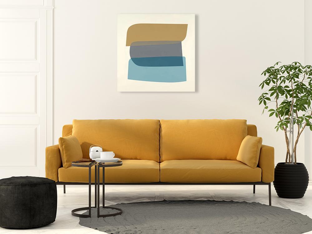 Modern Square Canvas Art Print