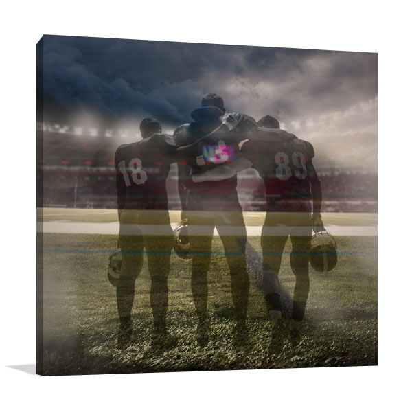 Three Players Prints Canvas