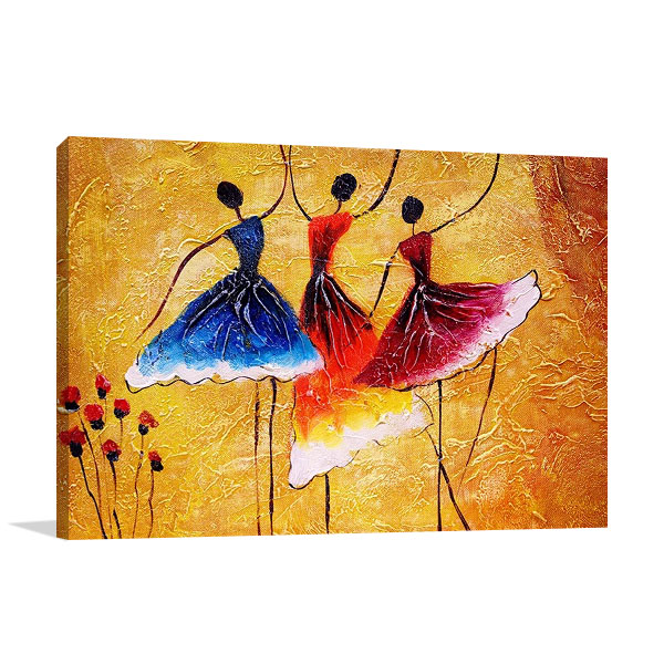 Three Spanish Dancers Print on Canvas