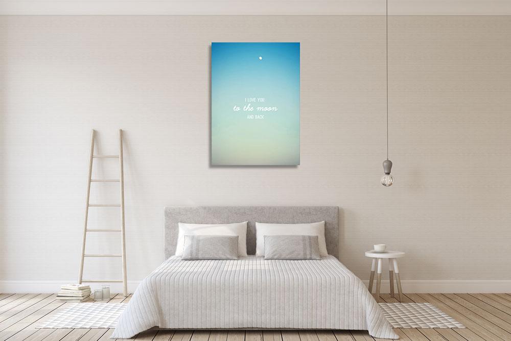Blue Motivational Print on Canvas