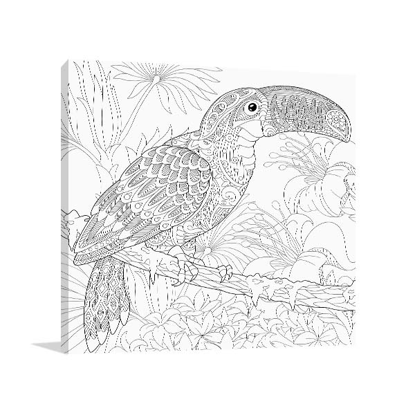 Toucan Bird Pattern Canvas Prints