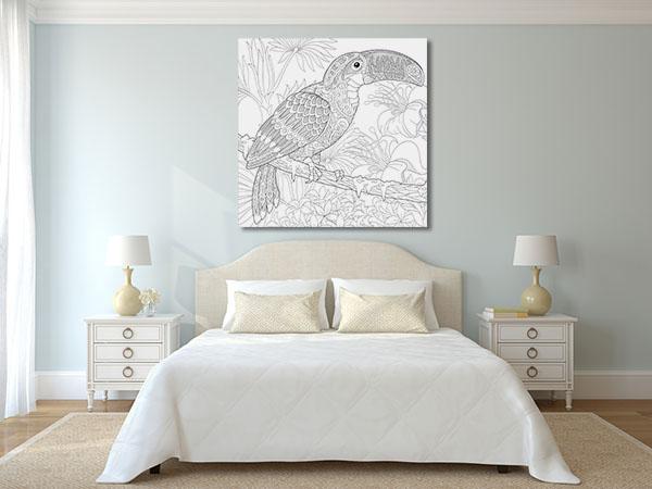 Toucan Bird Pattern Prints Canvas
