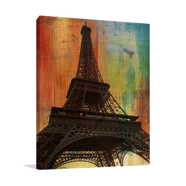 Tour Eiffel Paris Print on Canvas