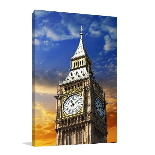 Tower Clock Print Artwork