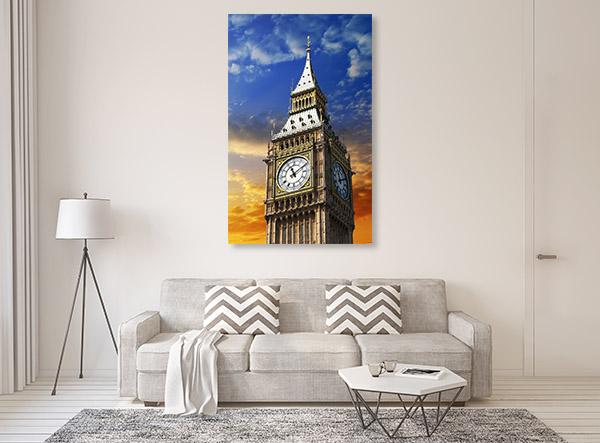 Tower Clock Canvas Art