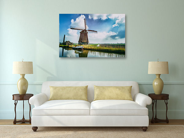 Traditional Dutch Windmill Canvas Art