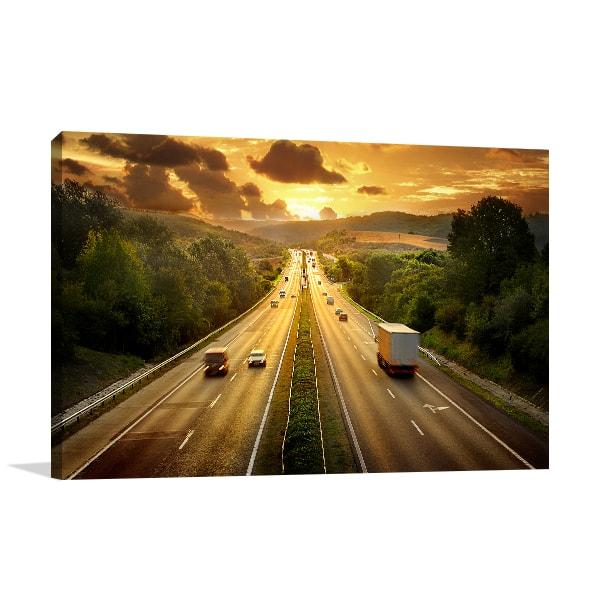 Traffic Sunset Print Artwork