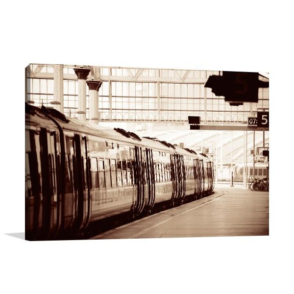 Train Station Prints Canvas