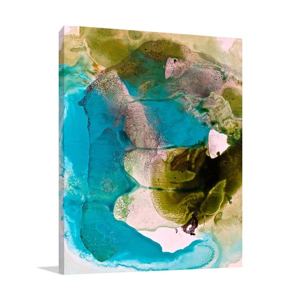 Translucent Ink Flow VII Canvas Print