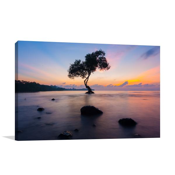 Tree in Sea Art Prints