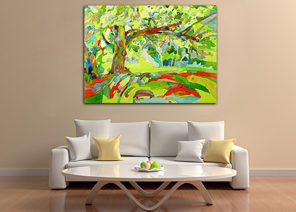 Tree Village Canvas Art