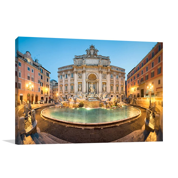 Trevi Fountain Italy Canvas Print