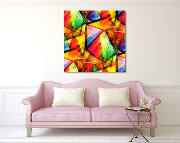 Triangle Abstract Prints Canvas