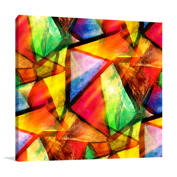 Triangle Abstract Canvas Prints