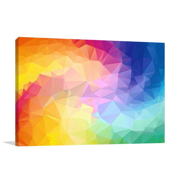 Triangular Colorful Wall Print