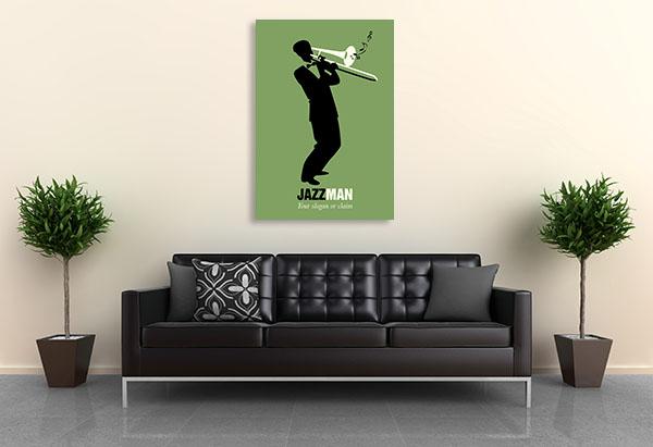 Trombone Player Canvas Art Prints