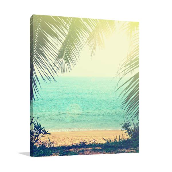 Tropical Background Canvas Art Prints