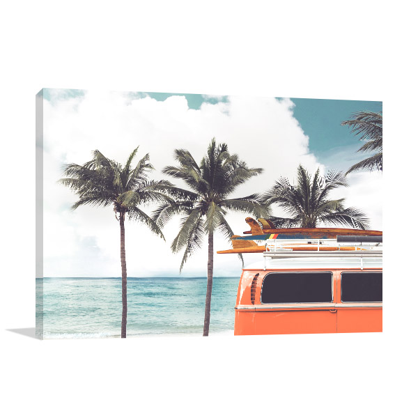 Tropical Beach Canvas Artwork
