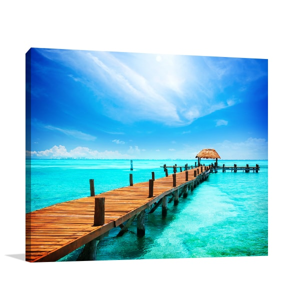 Tropical Resort Print Artwork