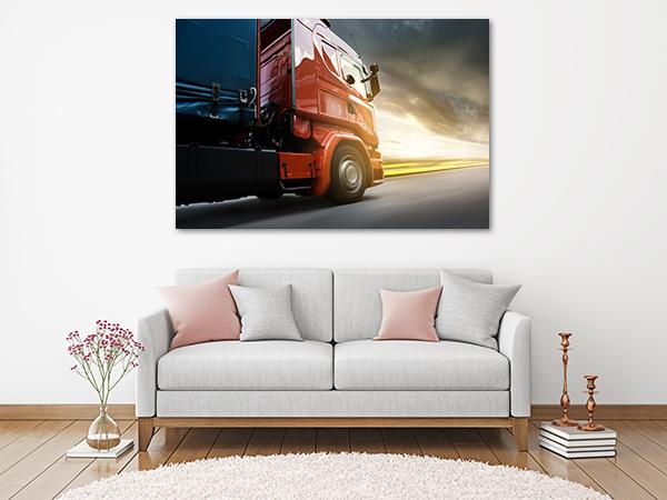 Truck Wall Art Print on the wall