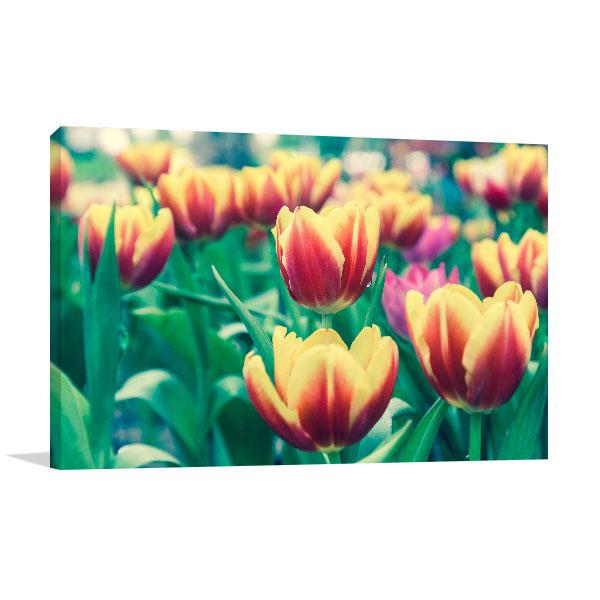 Tulip Flower Garden Wall Art