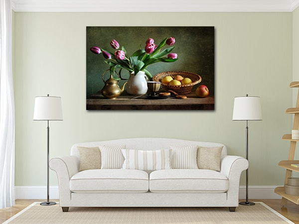 Tulips and Apples Print Artwork on the Wall