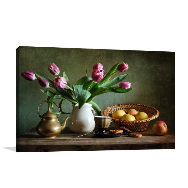 Tulips and Apples Wall Canvas