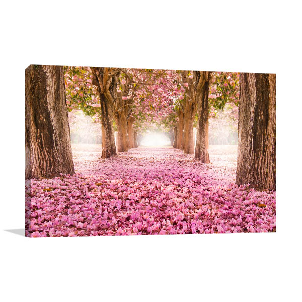 Tunnel of Pink Flower Wall Art