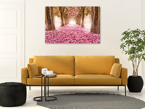 Tunnel of Pink Flower Canvas Prints