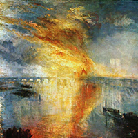 Turner | The Burning of the Houses of Parliament Replica Painting