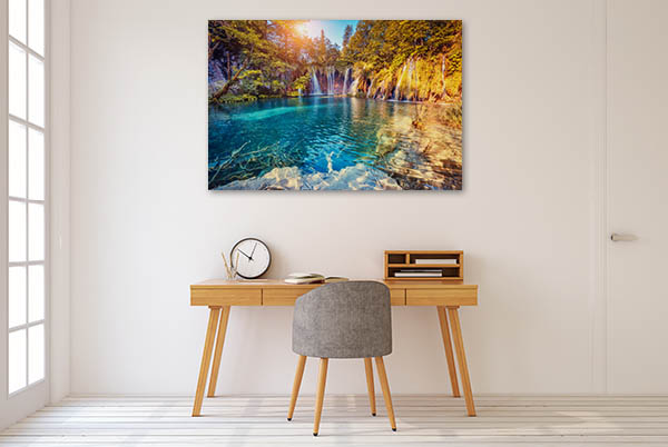 Turquoise And Sunny Beam Prints Canvas