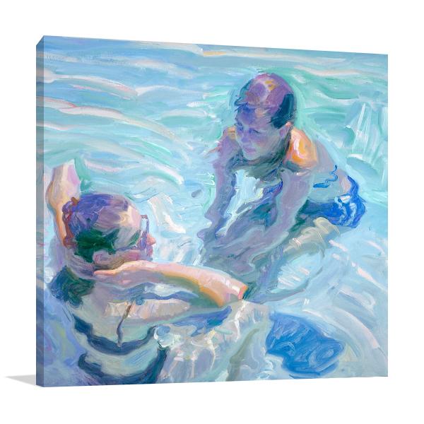 Turquoise Pool Wall Art Print