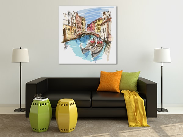 Two Gondolas Wall Art on the Wall