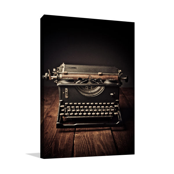 typewriter Wall Canvas