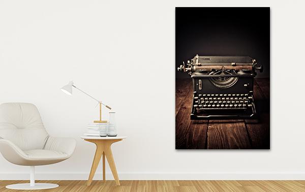 Typewriter Artwork on the Wall