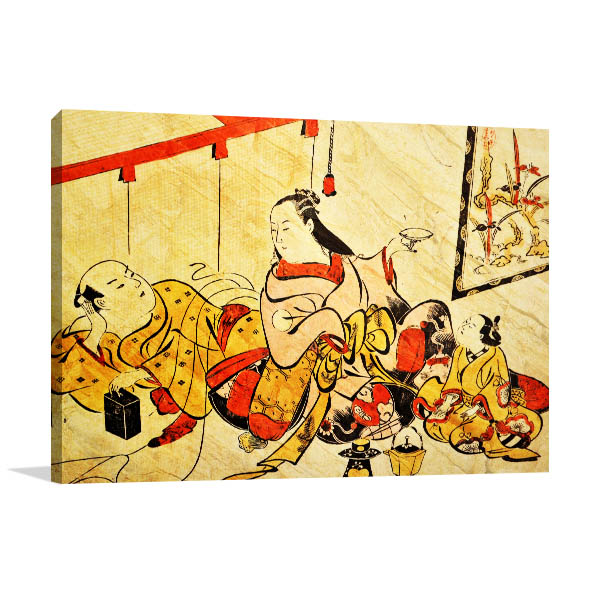Typical Japanese Prints Canvas