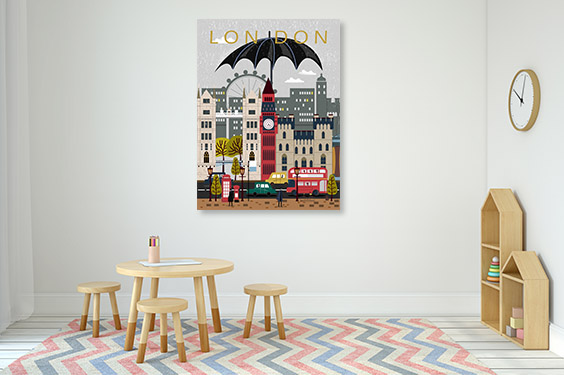 UK Attractions Canvas Art