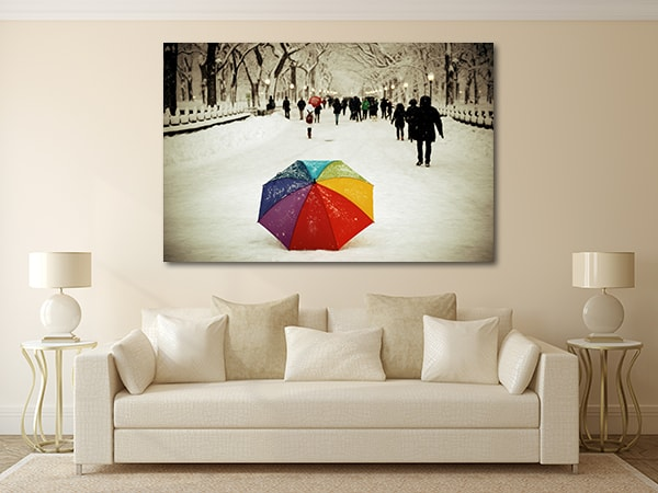 Umbrella in Central Park Prints Canvas