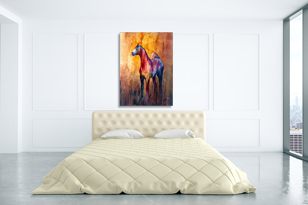 Animal Horse Abstract Print on Canvas