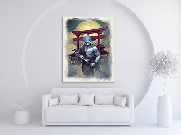 Undead Samurai Wall Art on the Wall