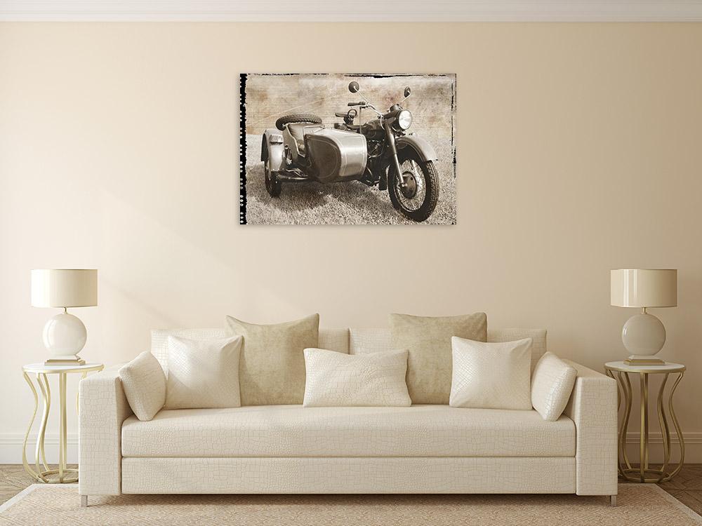 Motorcycle Art Print Wall
